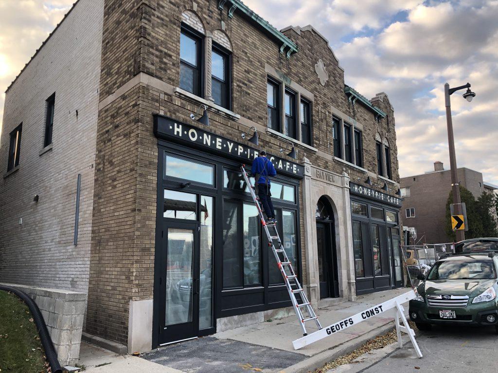 Honeypie construction in November 2020. Photo by Jeramey Jannene.