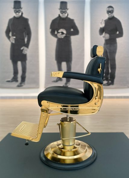 Faisal Abdu'Allah, The-Barber's Chair, 2017 Duppy and The Conquerer, 2017. Photo courtesy of MOWA.