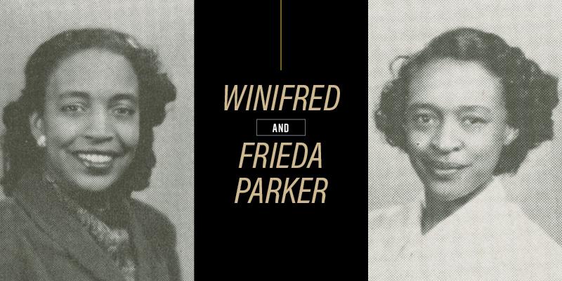 Winifred Parker White and Frieda Parker Jefferson. Photo courtesy of Purdue University.