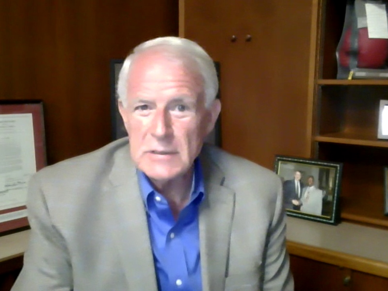 Mayor Tom Barrett. Screenshot from June 22nd, 2021 press conference.