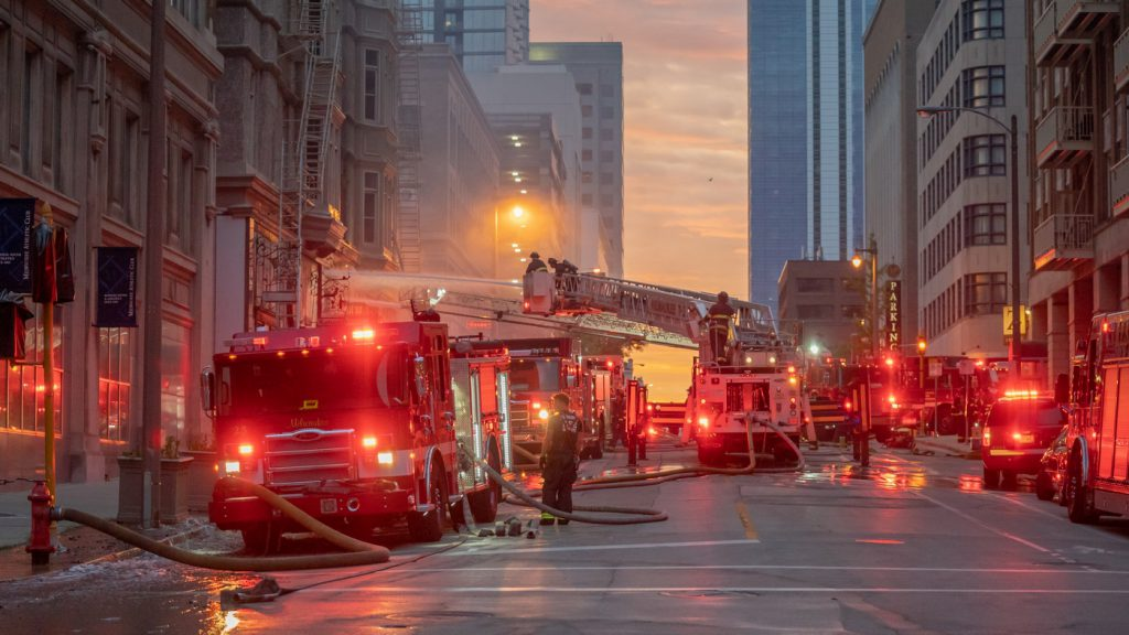 Milwaukee Fire Department battles Colby-Abbot Building fire on June 7th, 2020. Photo from MFD.
