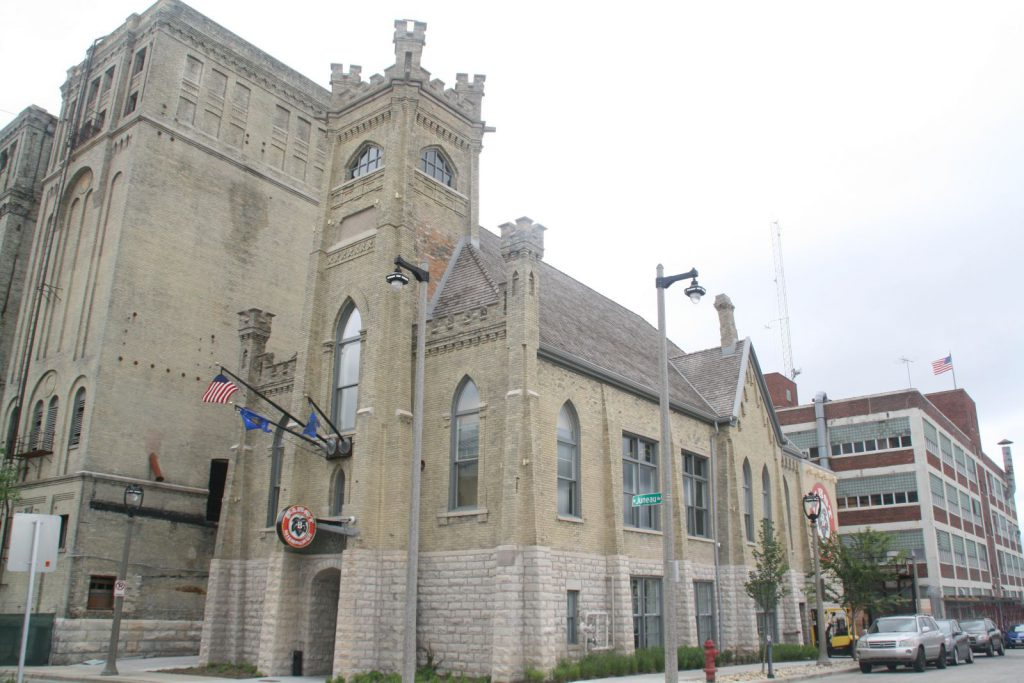 Pabst's Milwaukee pilot brewery in the First German Methodist Church in 2017. Photo by Jeramey Jannene.