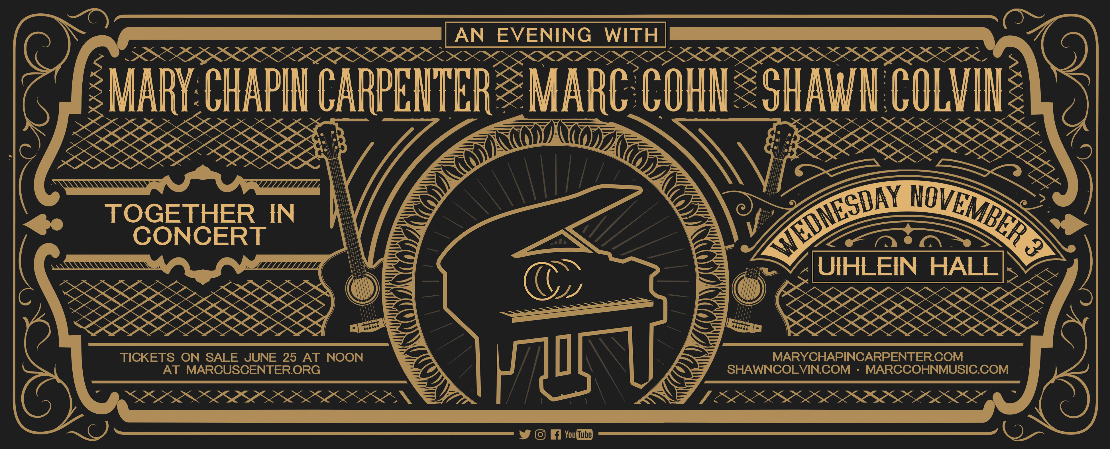 """Mary Chapin Carpenter, Marc Cohn, And Shawn Colvin Confirm Special """"Together In Concert"""" Tour"""