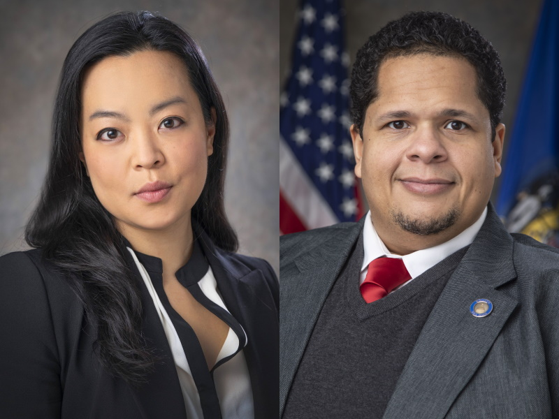 State Rep. Francesca Hong and State Sen. Julian Bradley.