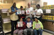 Volunteers at Friedens show their appreciation for clients. Across its four locations, Friedens served over 36,000 meals in 2020 despite having to close one of its locations in March due to COVID-19. Photo provided by Friendens Food Pantries/NNS.