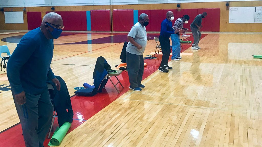 Participants prosecute  successful  carnal   workout  and instrumentality     informational classes successful  the Men Moving Forward program. Photo provided by Sophia Aboagye, Medical College of Wisconsin/NNS.
