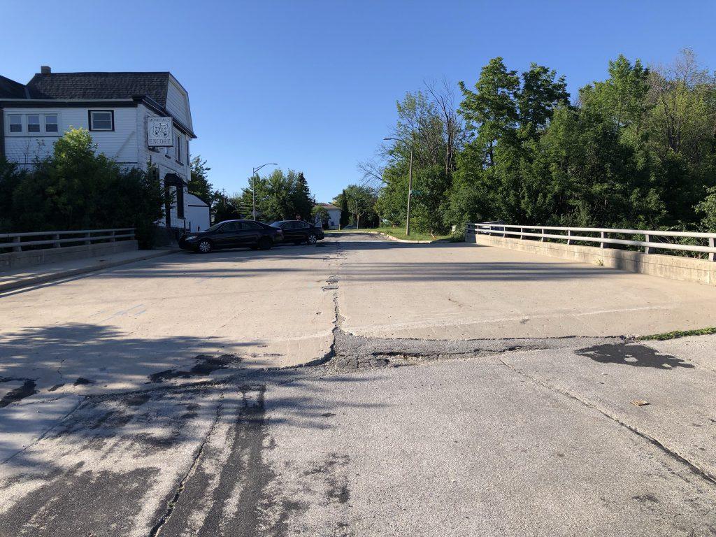 S. Dana Ct. bridge. Photo by Jeramey Jannene.