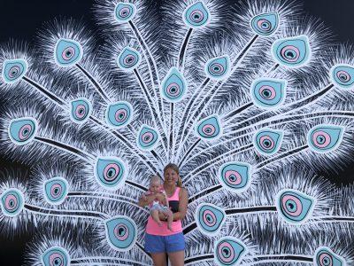 Visual Art: New Mural Transforms You Into a Peacock