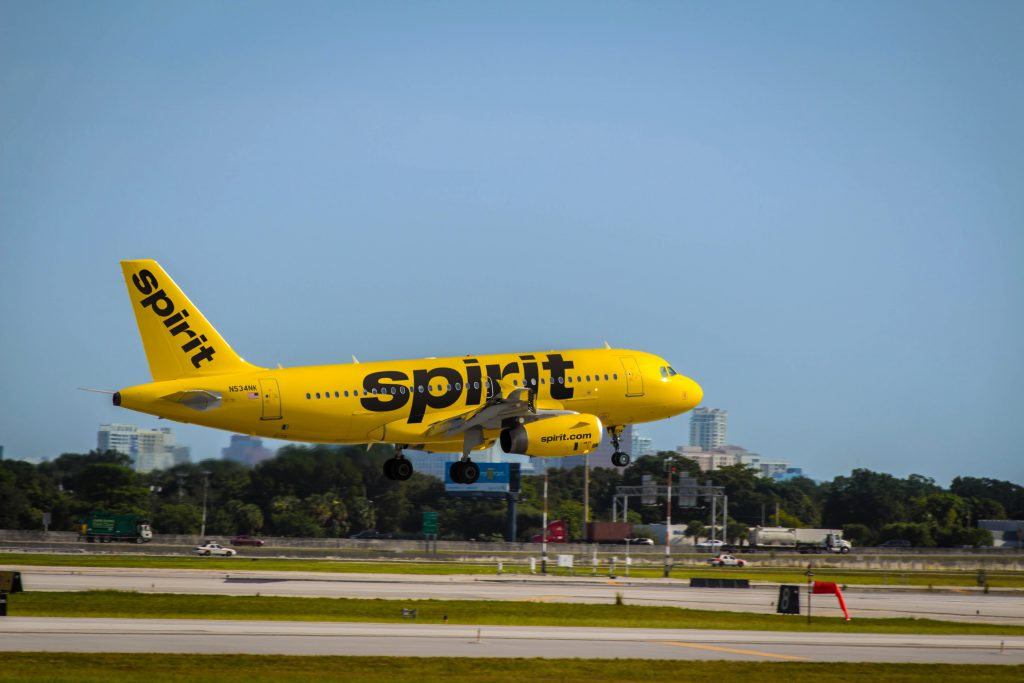 Spirit Airlines jet. Photo from Spirit Airlines.