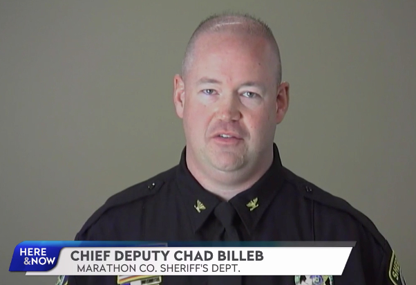 """Marathon County Chief Deputy Chad Billeb says the county will have a hard time managing the criminal cases that piled up because of COVID-19. """"Pandemic or no pandemic, if we can't get a handle on the massive backlog in the court system, if something doesn't move, we're going to need a 1,000-bed jail,"""" he says. Billeb is seen during a 2017 appearance on PBS Wisconsin's Here and Now program. Credit: PBS Wisconsin / PBS Wisconsin"""