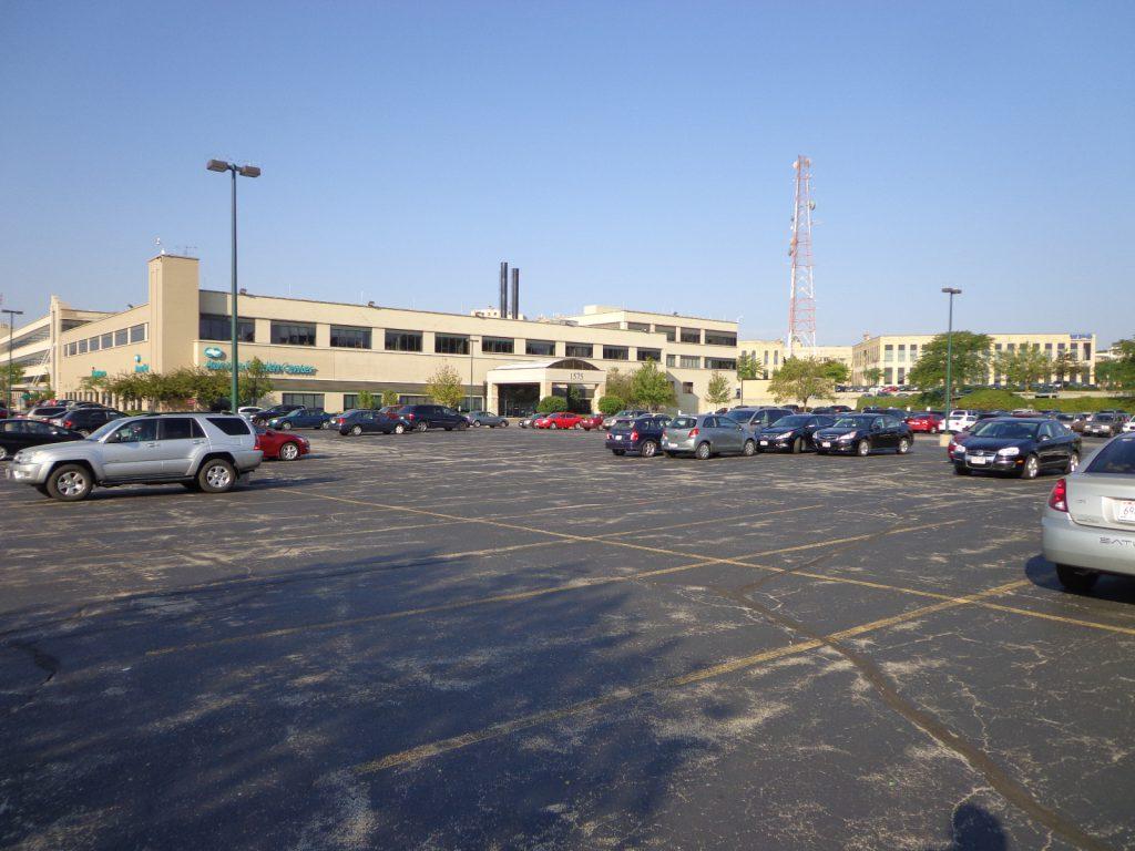 Schlitz Park parking lot. File photo by Dave Reid.