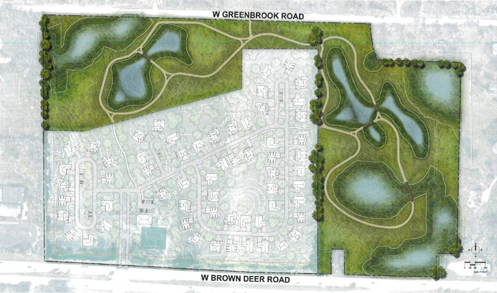 Plan to develop 60 homes in the Village of River Hills.