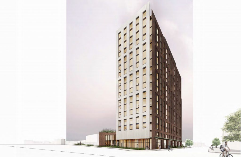 The Edison. Rendering by Angus-Young / Michael Green Architecture.