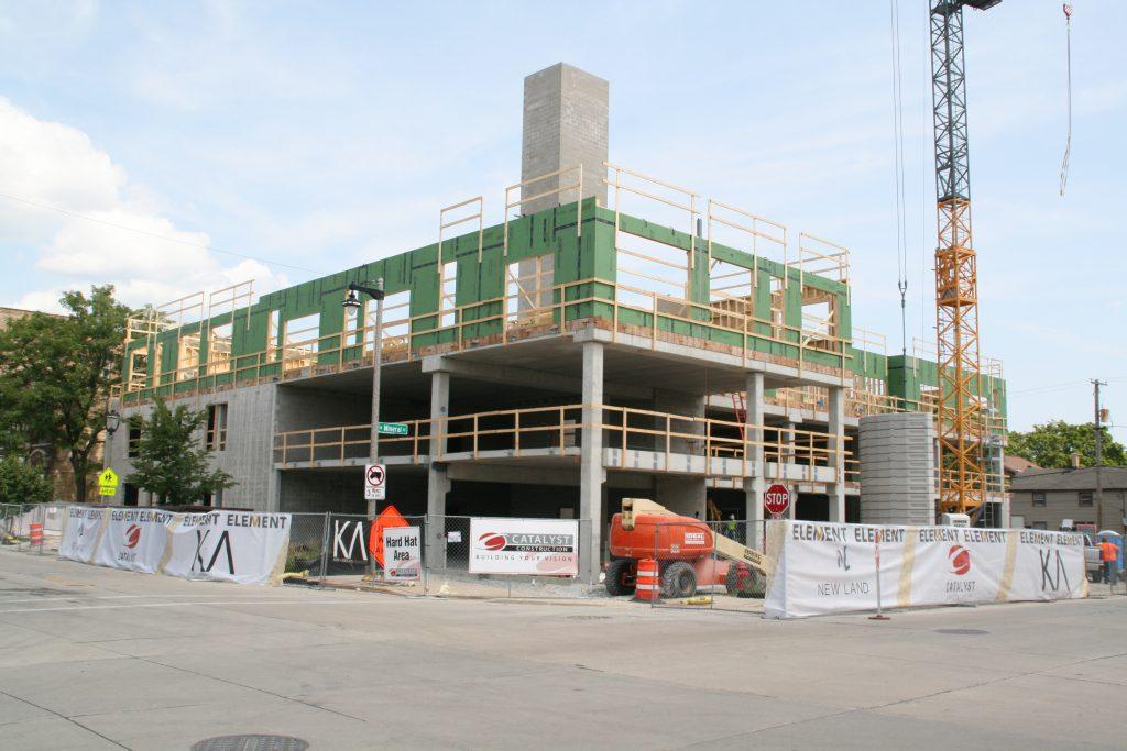Element apartment building under construction. Photo by Jeramey Jannene.