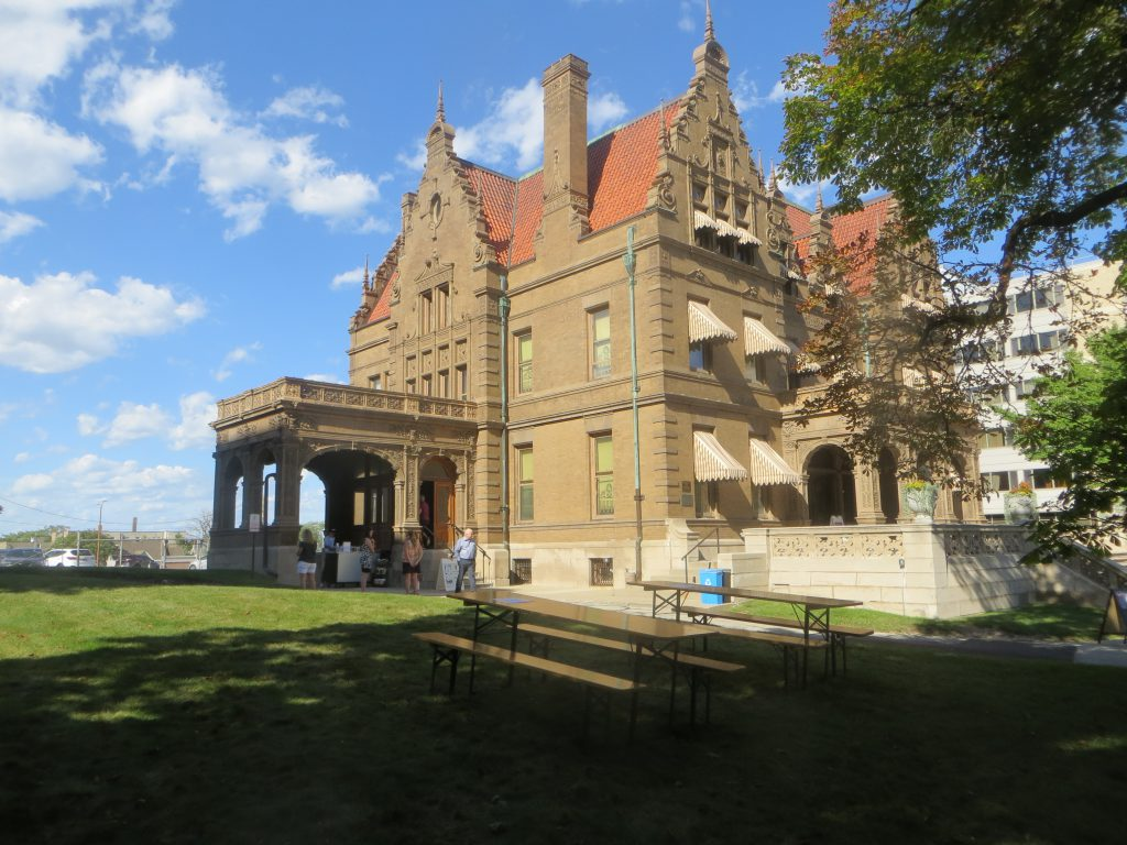 Pabst Mansion Beer Garden. Photo taken August 13, 2021 by Michael Horne.