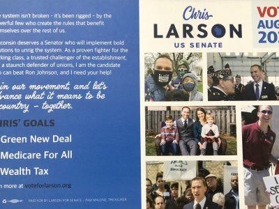 Larson Drops Out of Senate Race, Endorses Barnes