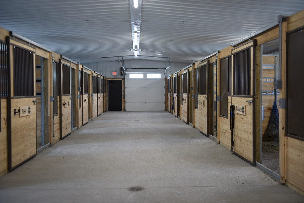 Stables for the Milwaukee Police Department's Mounted Patrol horses. Photo by Sue Vliet/NNS.