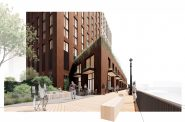 The Edison rendering. Rendering by Michael Green Architecture and Angus Young.
