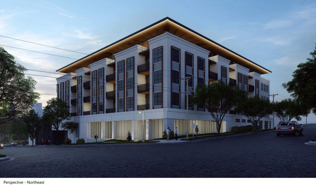 Proposed apartment building for 1737-1751 N. Palmer St. Rendering by Groth Design Group.
