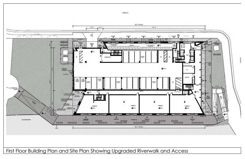 The Edison, first floor site plan. Site plan by Angus-Young/Michael Green Architecture.