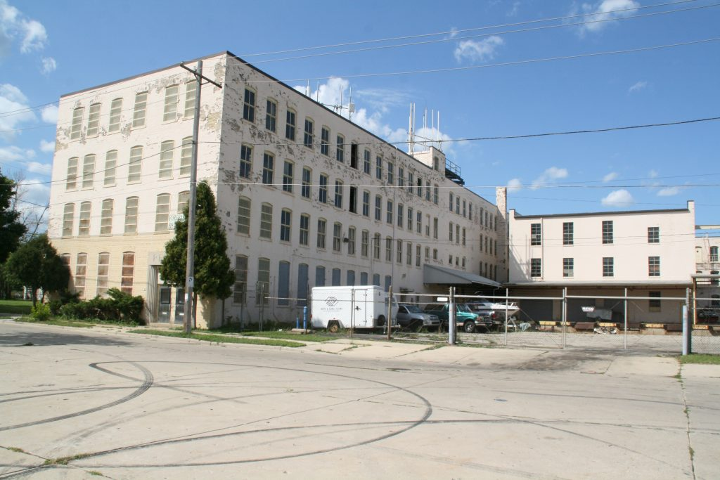 The former Perlick Corp. plant at 3100 W. Meinecke Ave. Photo by Jeramey Jannene.