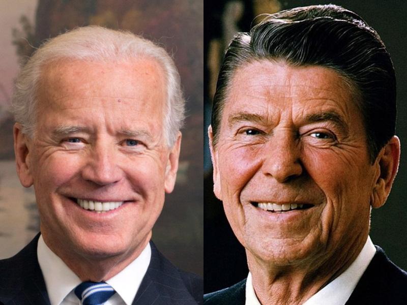Joe Biden and Ronald Reagan.