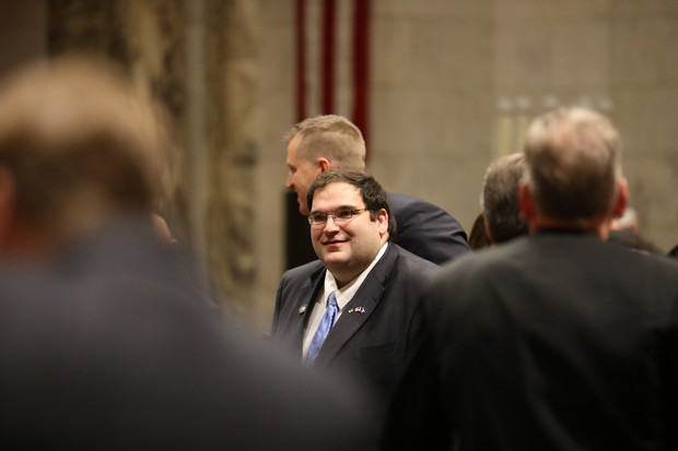 Sen. Andre Jacque, R- DePere, is seen at Gov. Tony Evers' first State of the State address in Madison, Wisc,, at the State Capitol building on Jan. 22, 2019. Coburn Dukehart/Wisconsin Watch
