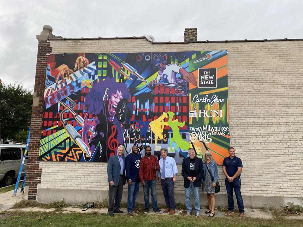 Mural unveiling. Photo by Graham Kilmer.