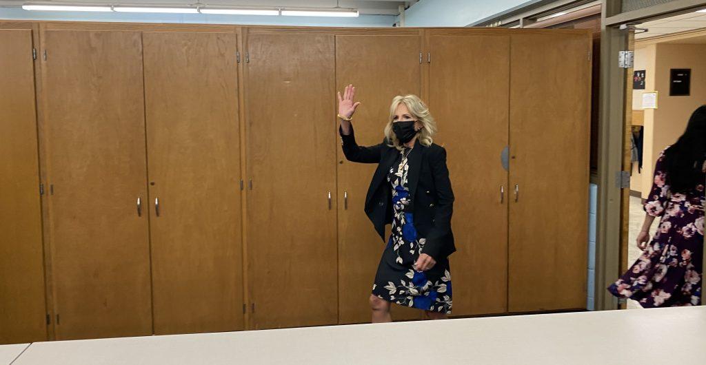 First Lady Dr. Jill Biden at Marvin Pratt Elementary. Photo taken September 15, 2021 by Graham Kilmer.