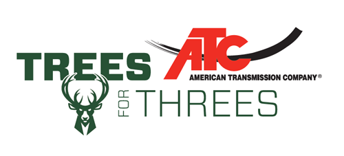 American Transmission Co. and Bucks Team Up to Donate 549 Trees Through Trees for Threes Program