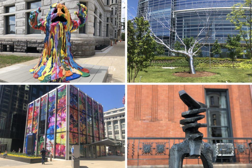 Sculpture Milwaukee 2021 pieces. Photos by Jeramey Jannene.
