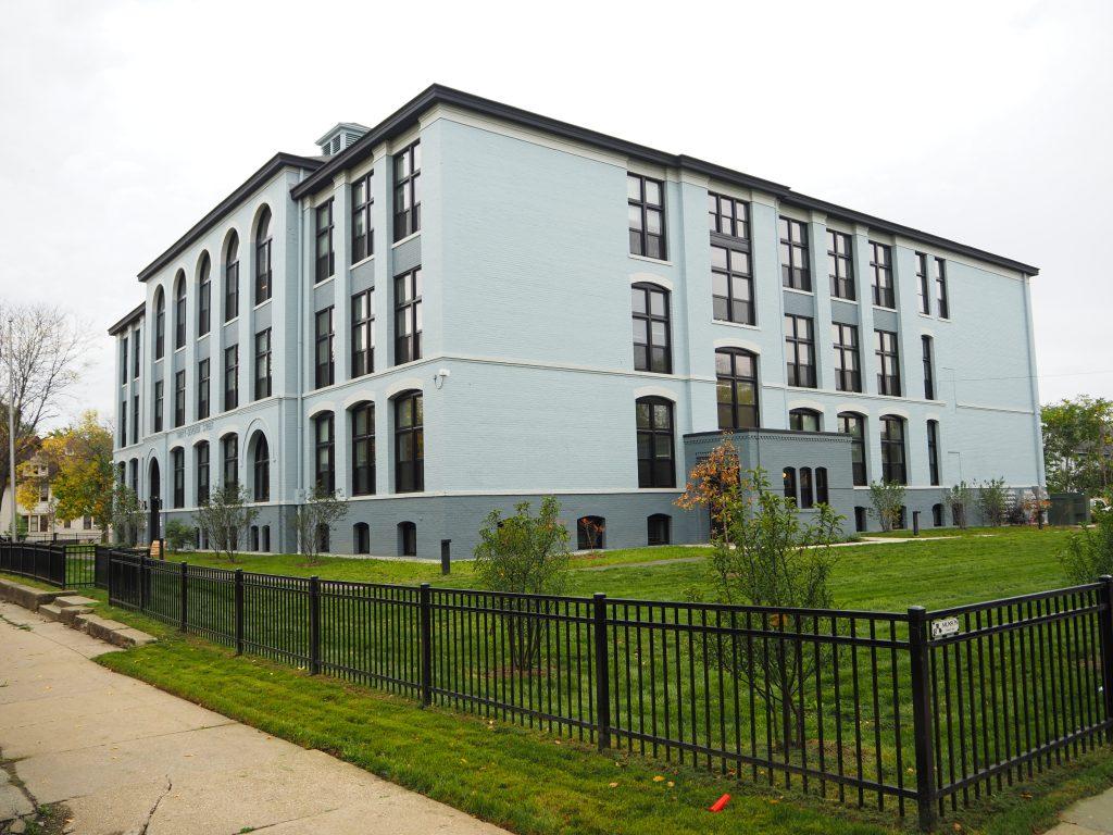 37th Street School senior apartments. Photo by Jeramey Jannene.