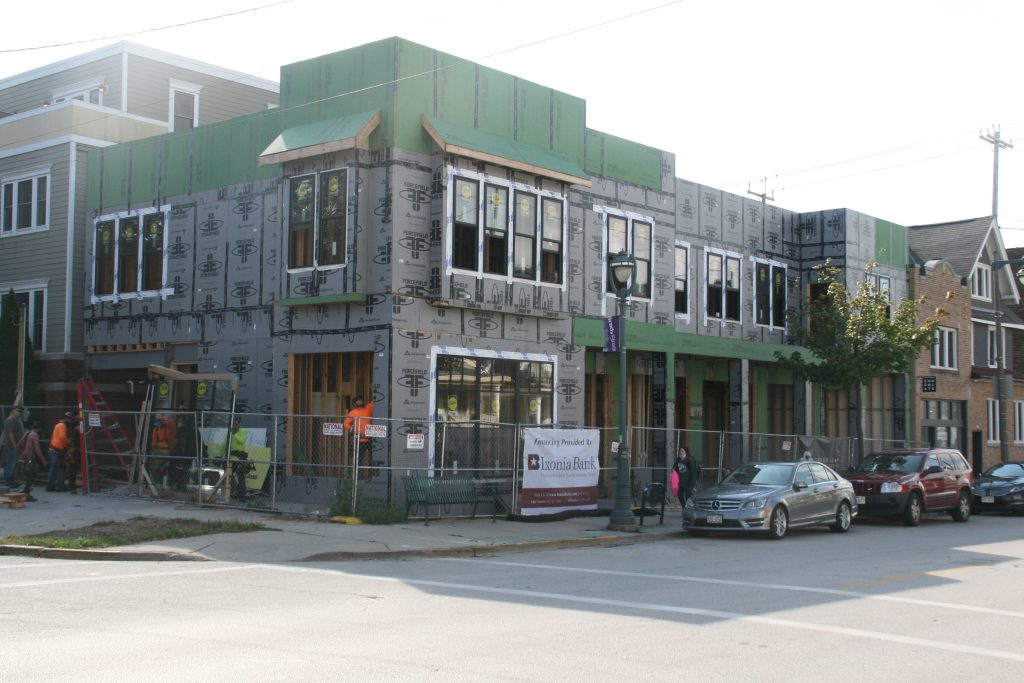 Construction at 1697-1699 N. Marshall St. Photo by Jeramey Jannene.