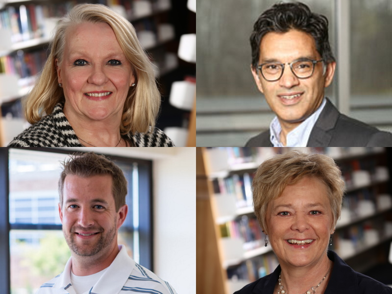 Wendy Francour, Akram Khan, Erik Hollander and Chris Schultz are now facing recall. Photos courtesy of the Mequon-Thiensville School District.