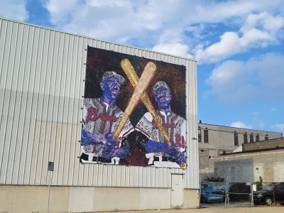 Near West Side Mural Honors Milwaukee Baseball Legends Hank and Tommie Aaron