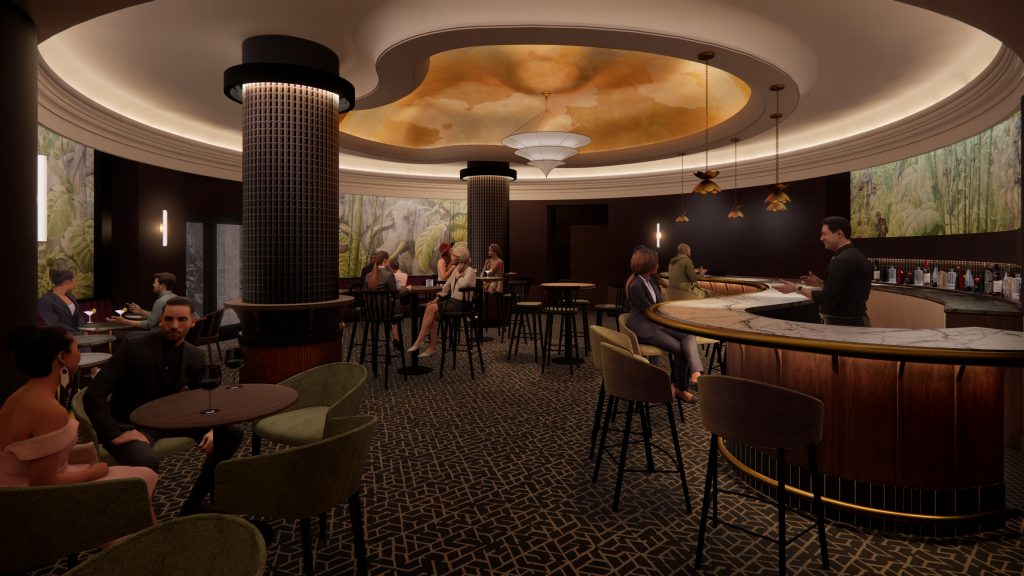 The Elephant Room at The Milwaukee Athletic Club. Rendering by Kahler Slater.