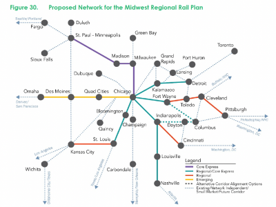 Midwest Regional Rail Plan Released by the Federal Railroad Administration