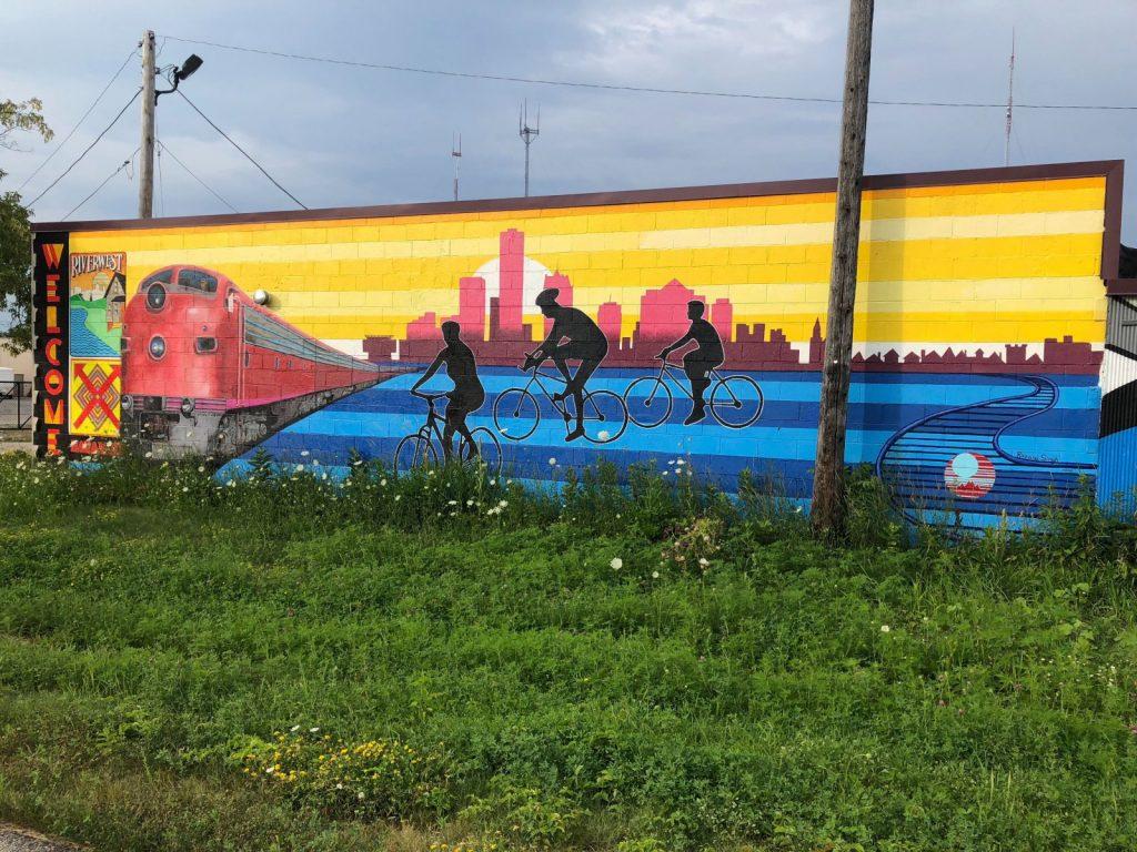 Beerline Trail mural by Rozalia Singh. Photo by Jeramey Jannene.