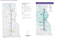 27th Street transit study. Images from SEWRPC.