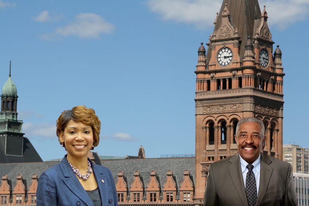 Alderwoman Nikiya Dodd and City Attorney Tearman Spencer