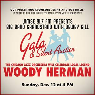 WMSE's Big Band Grandstand with Dewey Gill returns to the Turner Hall Ballroom