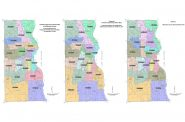 Independent Redistricting Committee's first, second and final maps.