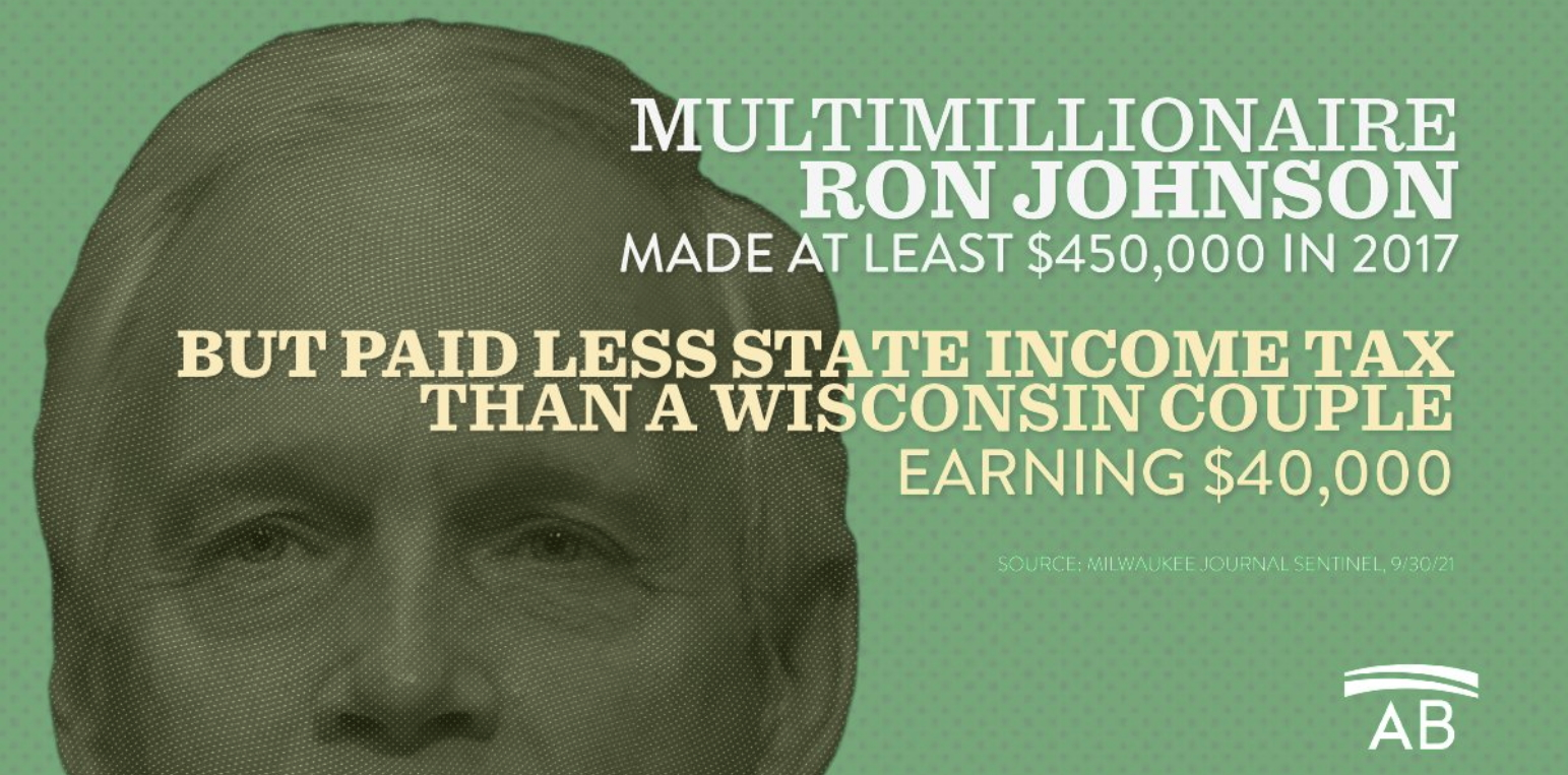 Coverage Roundup: Ron Johnson Made $450,000 in 2017, But Paid Just $2,105 in State Income Tax